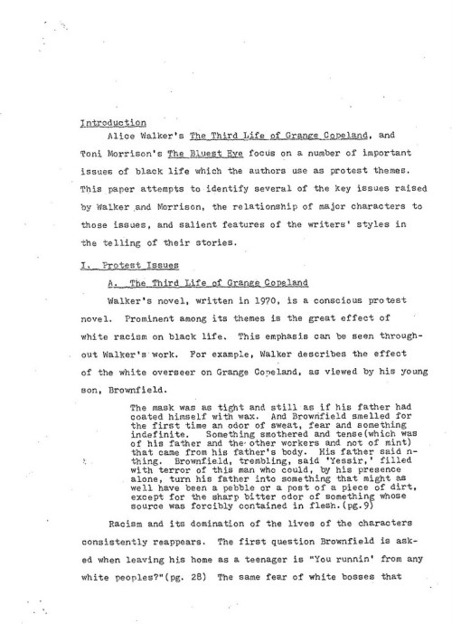 02-1978.12.XX -- Partial Comparison of The Third Life of Grange Copeland and The Blues Eye -- ML -- UMB_Page_1-002
