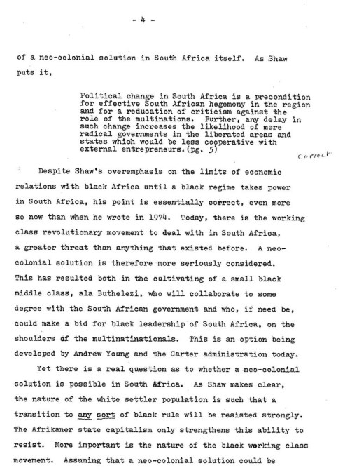 1977.10.XX -- Critique of Shaw's Political Economy of Technology in Southern Africa -- ML -- U.Cinti_Page_2